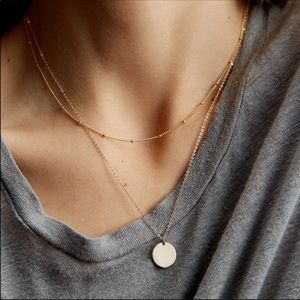 Gorgeous Double Layer Disc Necklace
